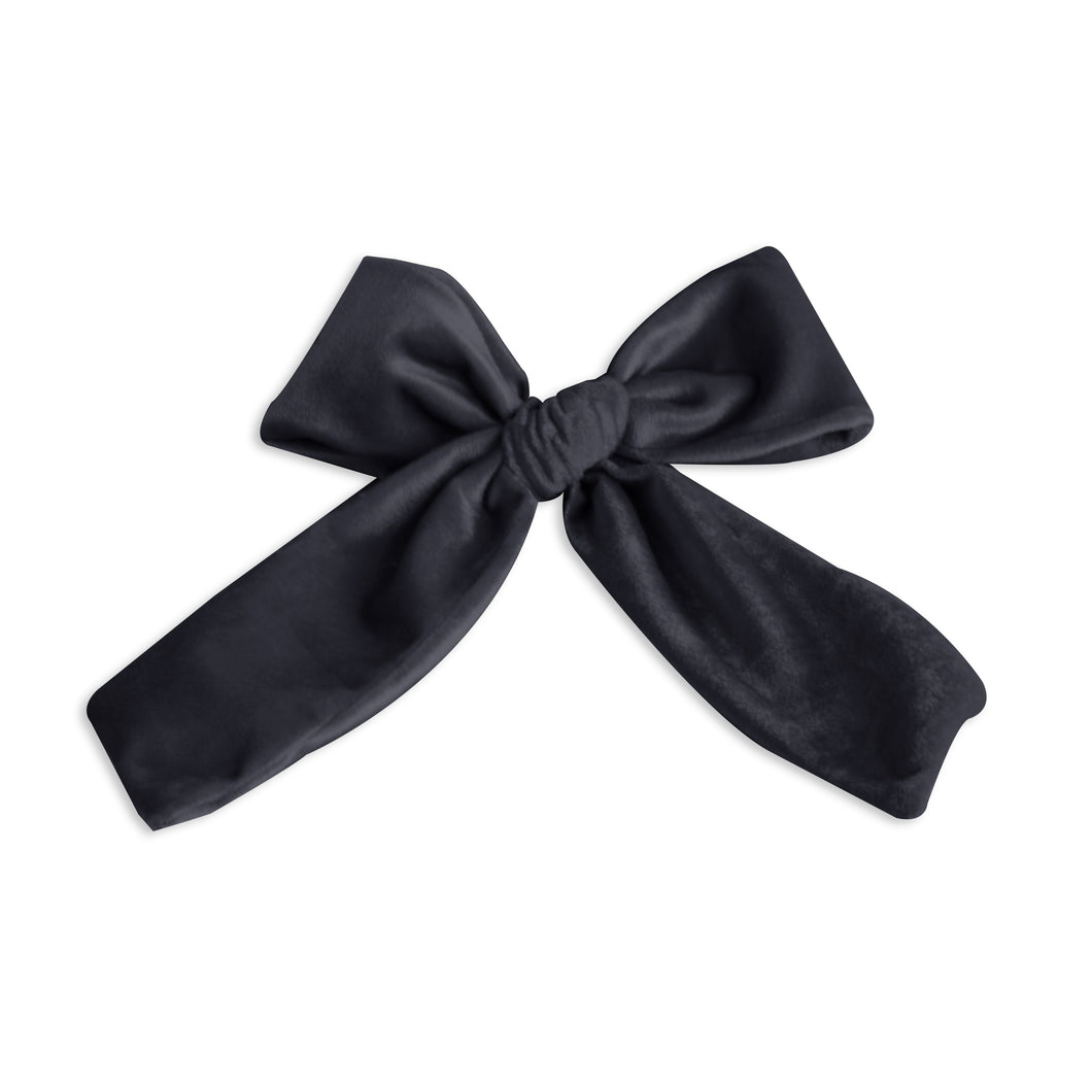 Black Large Velvet Oversized Bow