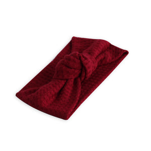 Red Chunky Sweater Knot  Turban