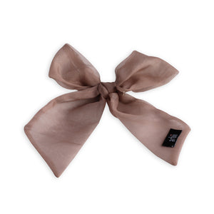 Mauve Sheer Small Oversized Bow