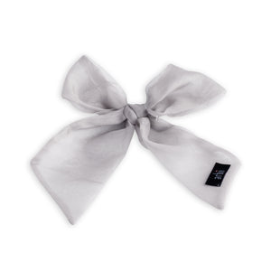 Ivory Sheer Small Oversized Bow