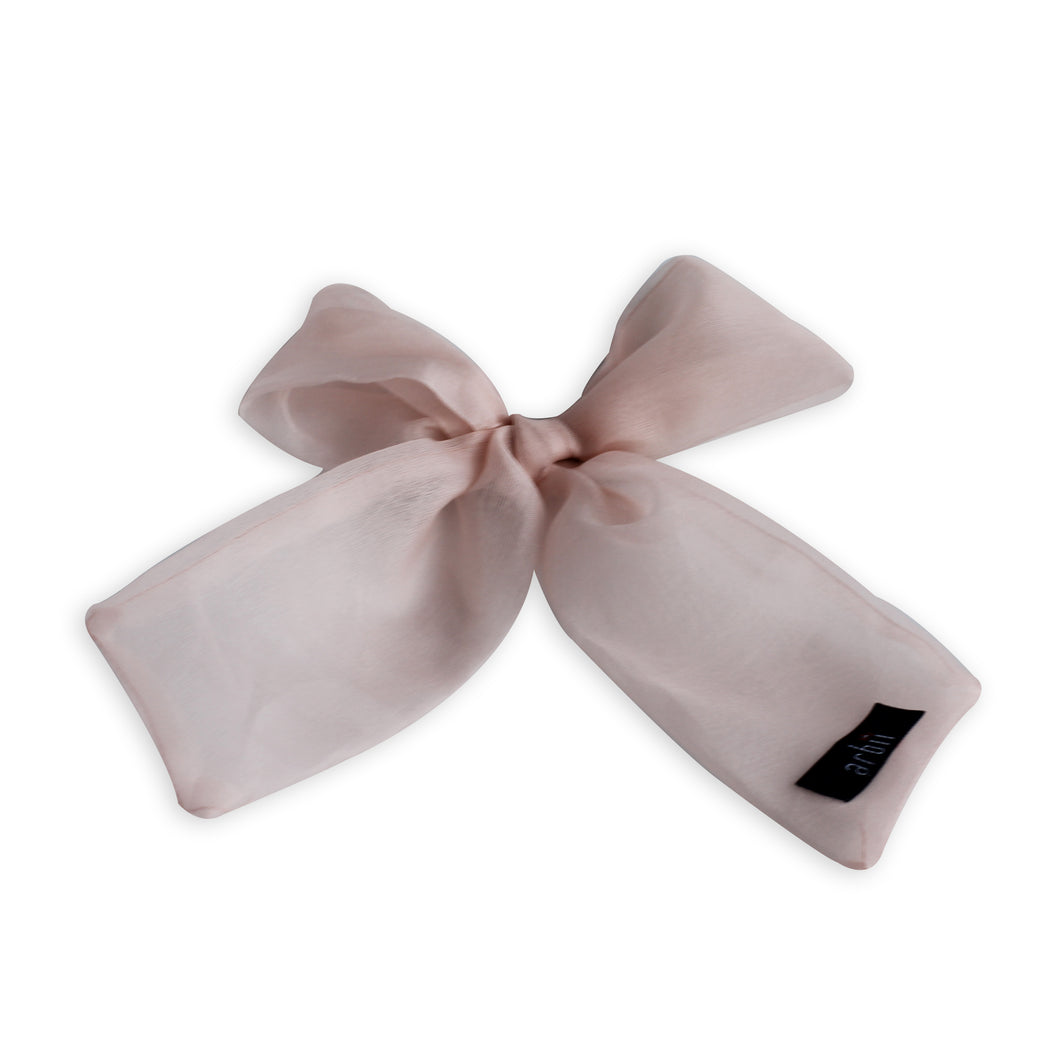 Pink Sheer Small Oversized Bow