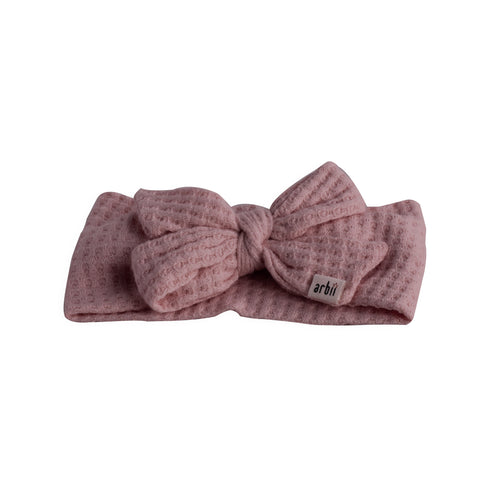 Mauve Chunky Sweater Knit Bow