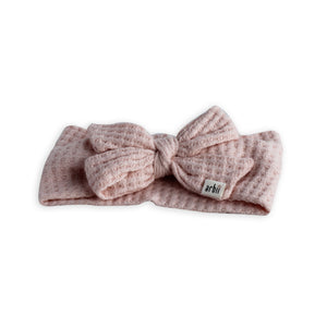 Soft Pink Chunky Sweater Knit Bow