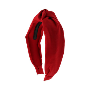 Red Linen Knot Headband