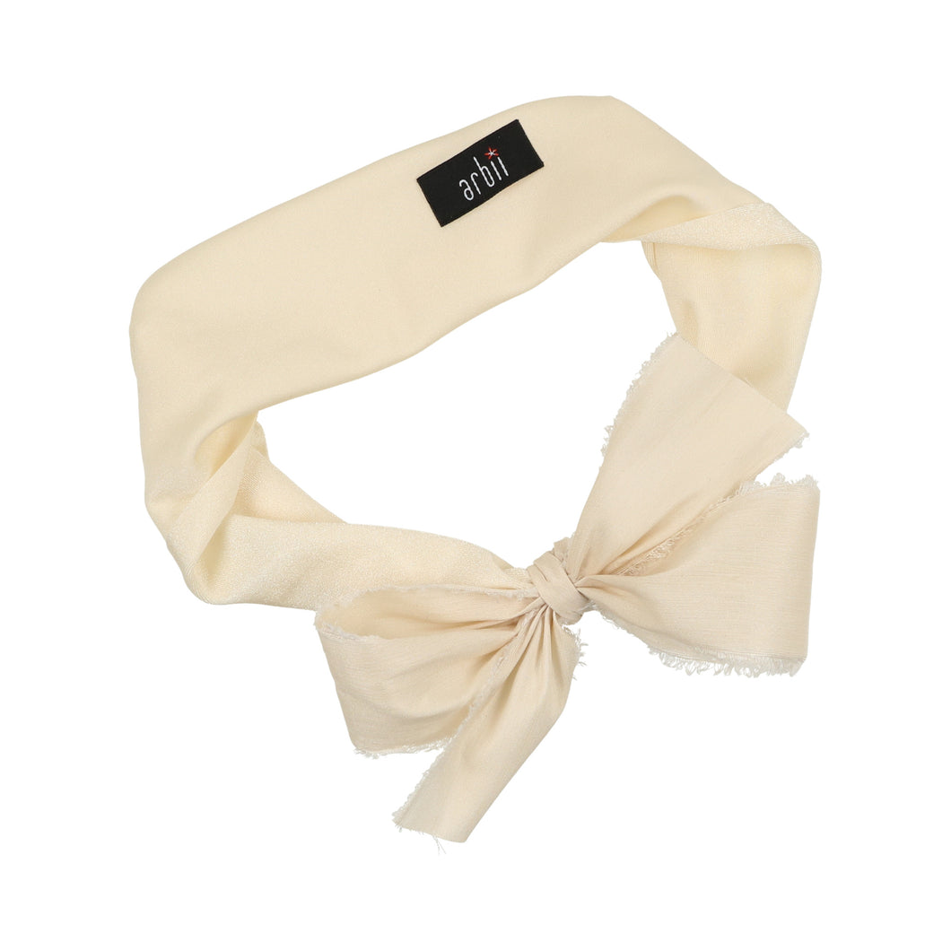 Ivory on Ivory Silk Sash Baby Band