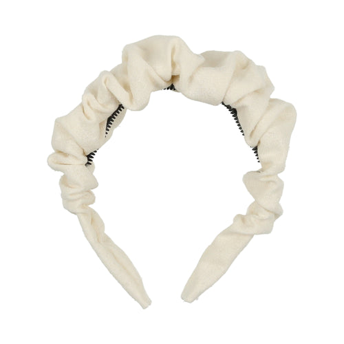 Ivory Scrunched Headband