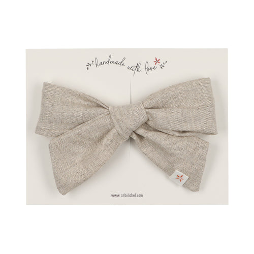 Natural Margaret Linen Clip