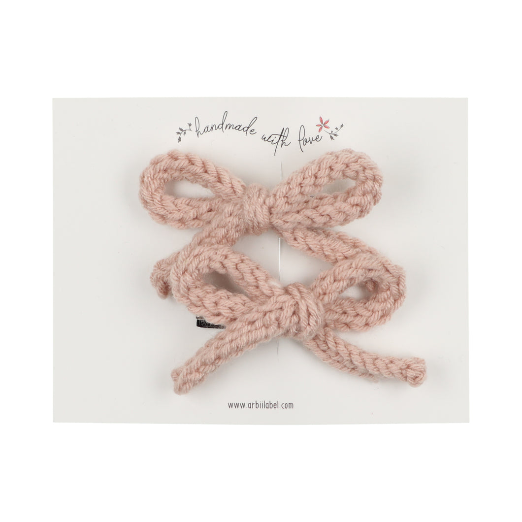 Blush Crochet Set of 2 Clips