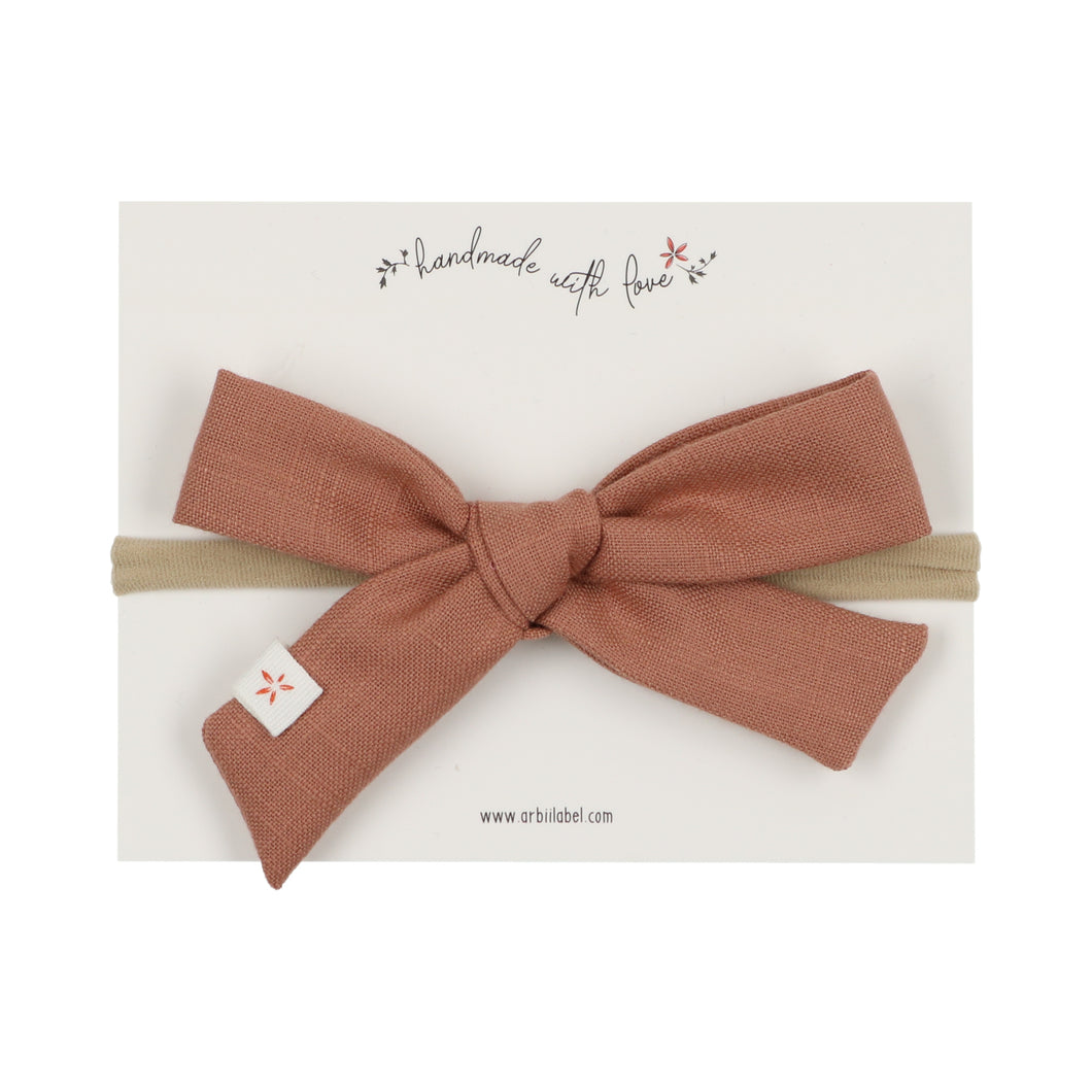 Clay Linen Emily Summer Bow
