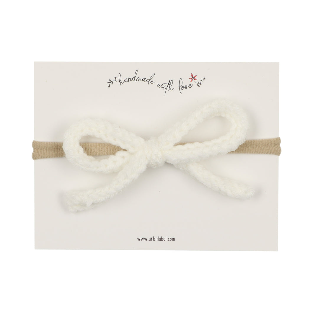 White Crochet Baby Band