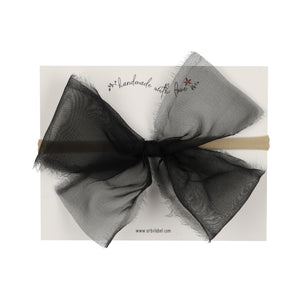 Black Sheer Bow Baby Band
