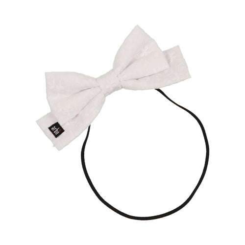 White English Daisy Dolly Bow