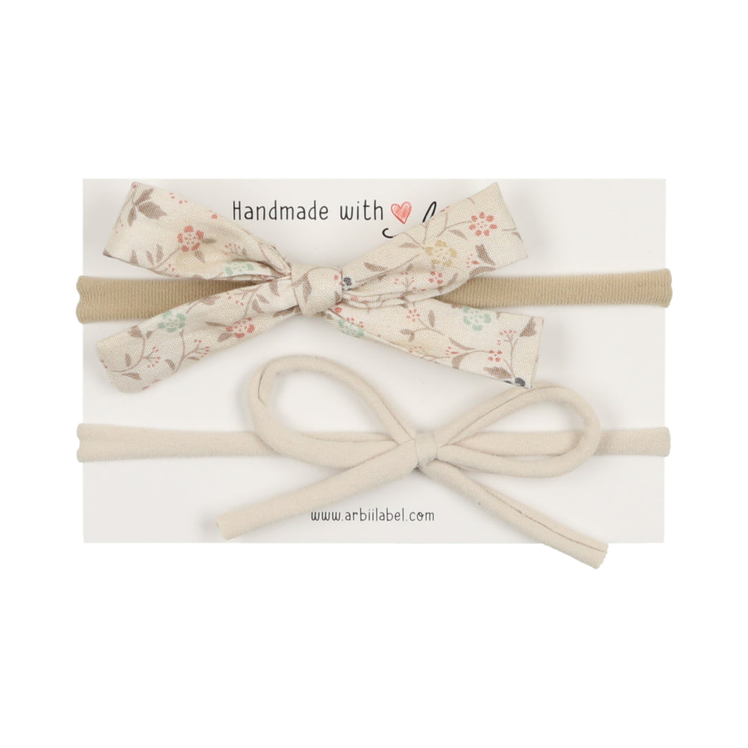 Signature Floral/Stone Bow Newborn Gift Set