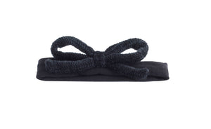 Black on Black Chenille Bow Band