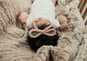 Cognac Crochet Baby Band