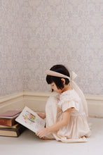 Ivory/Ivory Padded Headband with Silk Sash