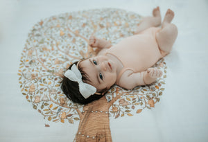Dusty Pink Linen Mini Bow