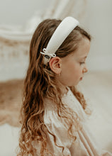 White Padded with Bow Detail Headband