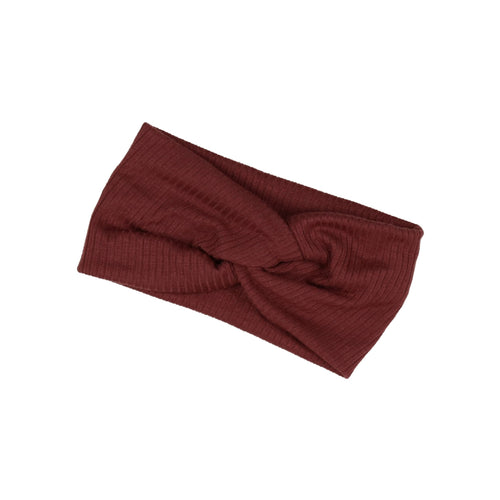 Rose Wood Twisted Ribbed Turban