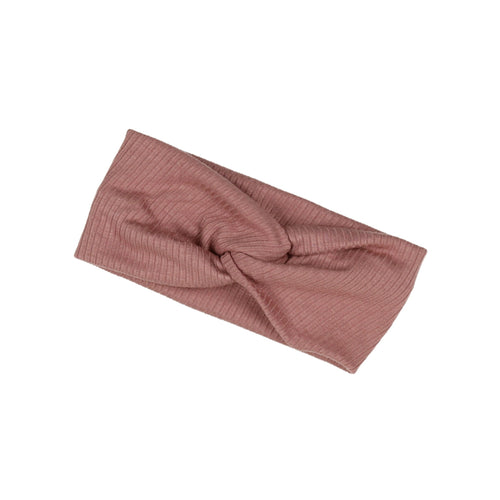 Mauve Pink Twisted Ribbed Turban