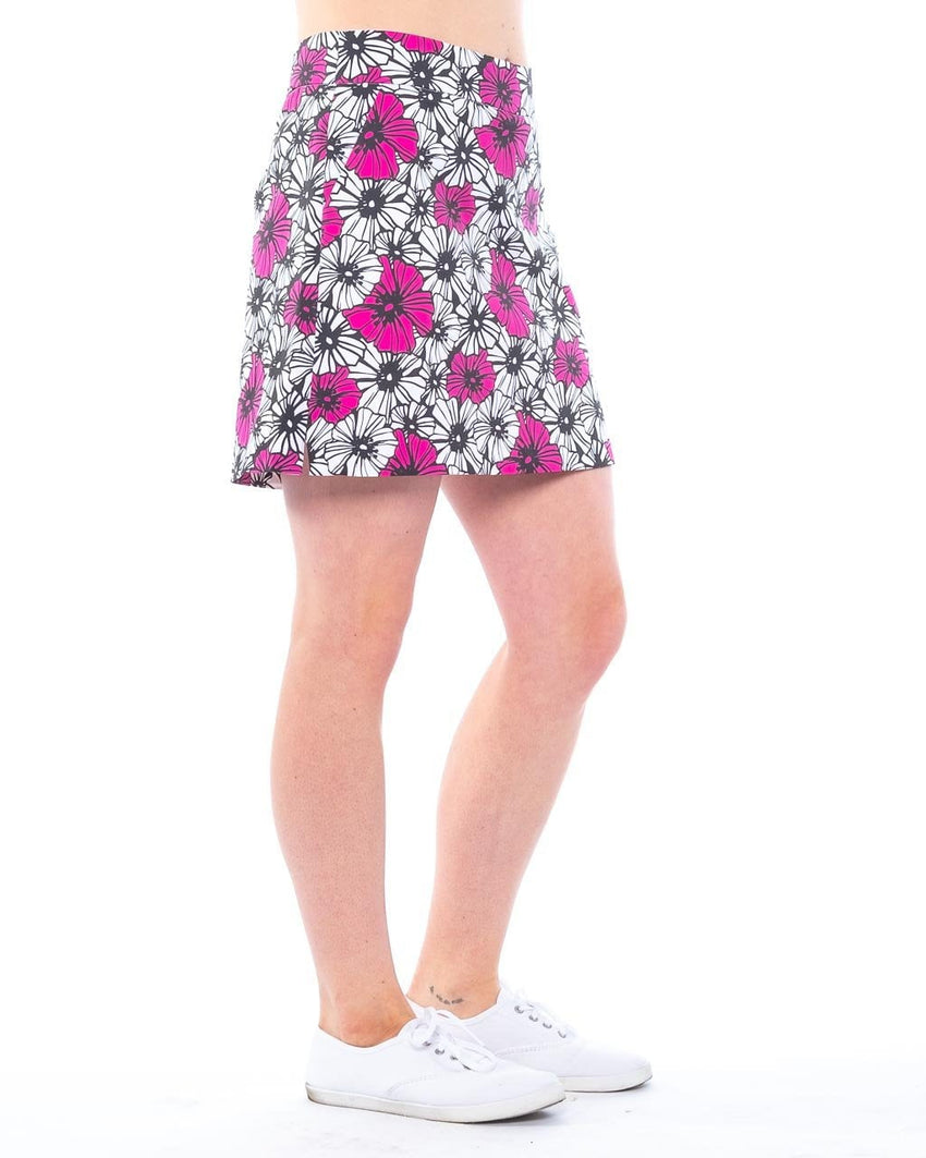 "Cotton blend skort side view  ""Hula Daisy"" by Haute Shot Golf"