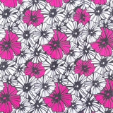 "Cotton blend skort fabric swatch  ""Hula Daisy"" by Haute Shot Golf"