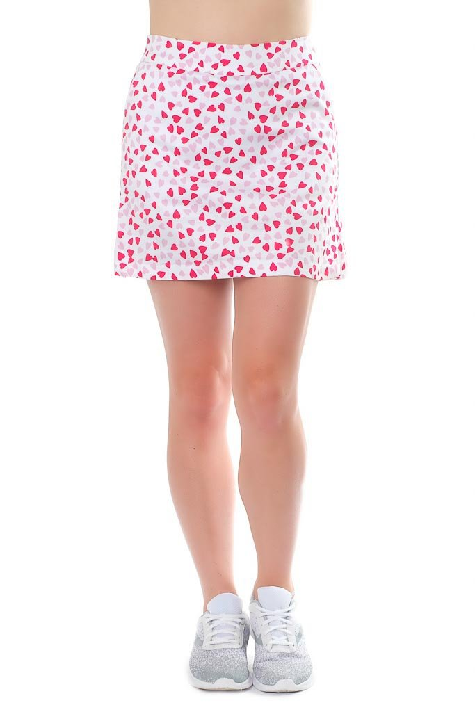 "Cotton blend skort front view ""Cinderella Story"" by Haute Shot Golf"