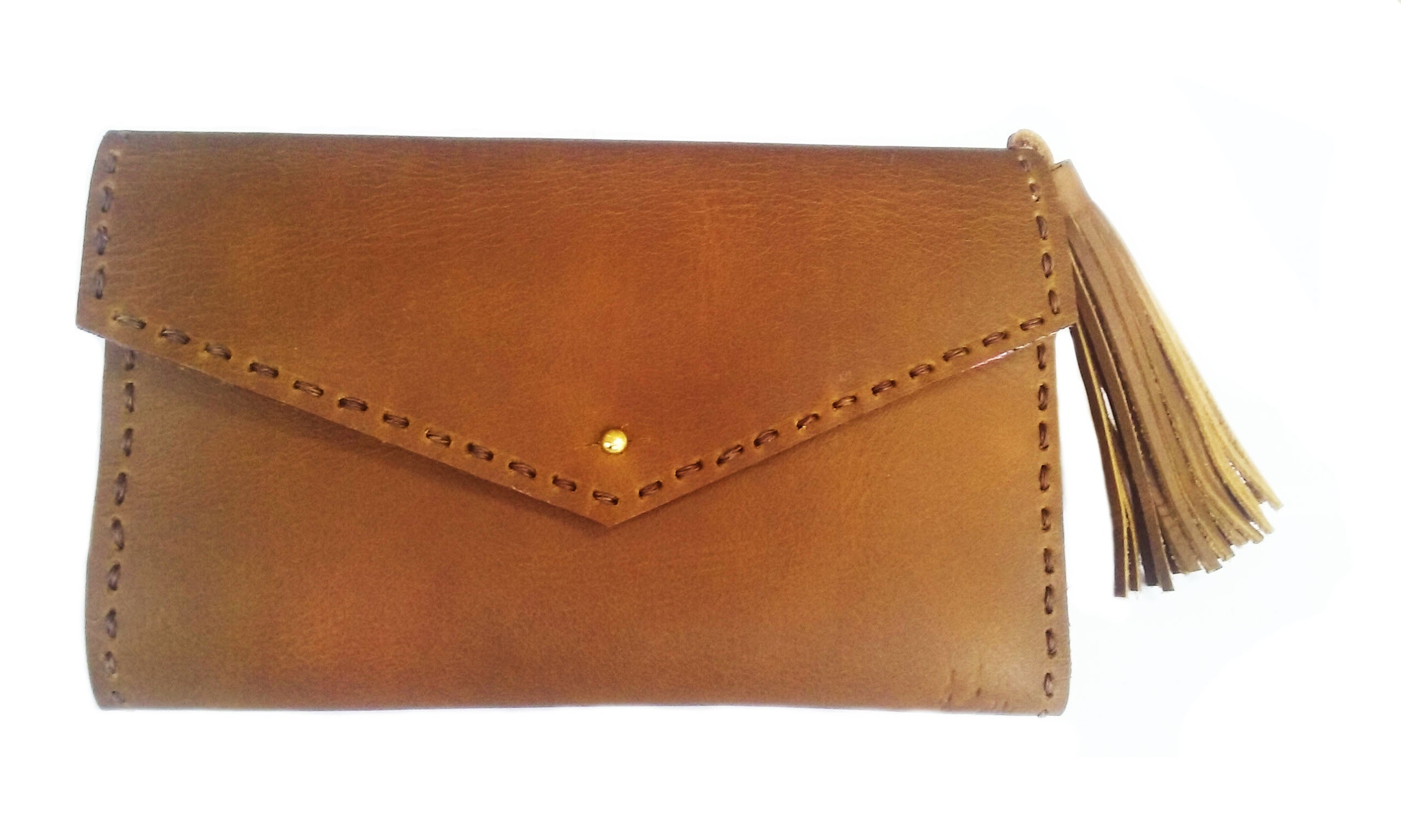 Handsewn Brown Leather Wallet