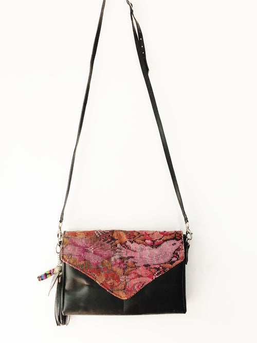 Cross Body Bag Floral ChiChi Black Bag