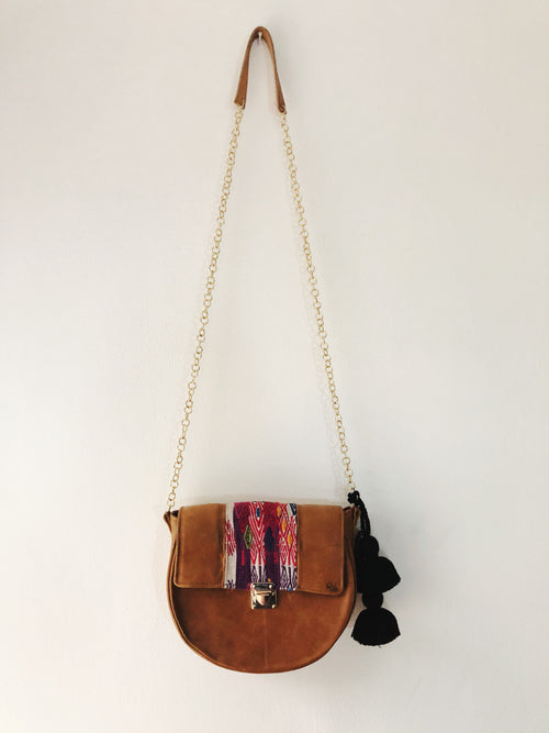 Round Brown Cross Body Bag
