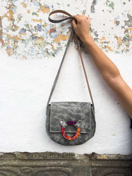 Round Cross Body Arrow Bag