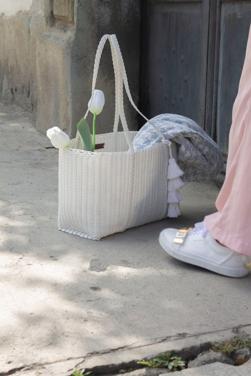 Grande Market Bag - White