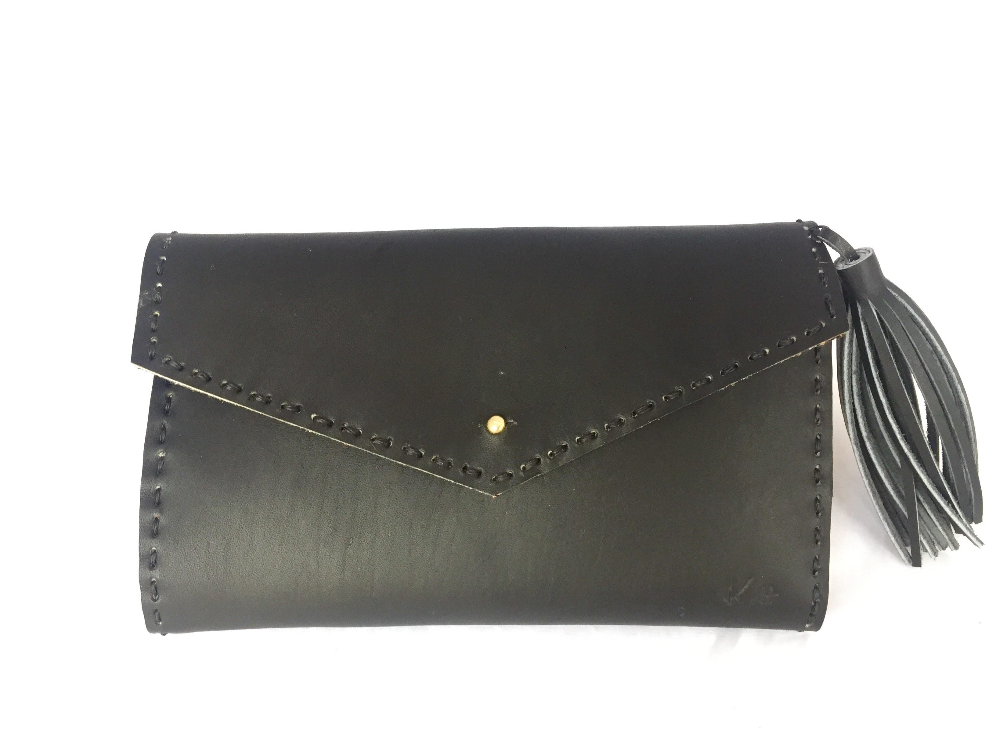 Handsewn Black Leather Wallet