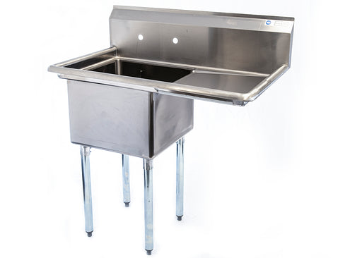 One Compartment Commercial Sink with Drainboard