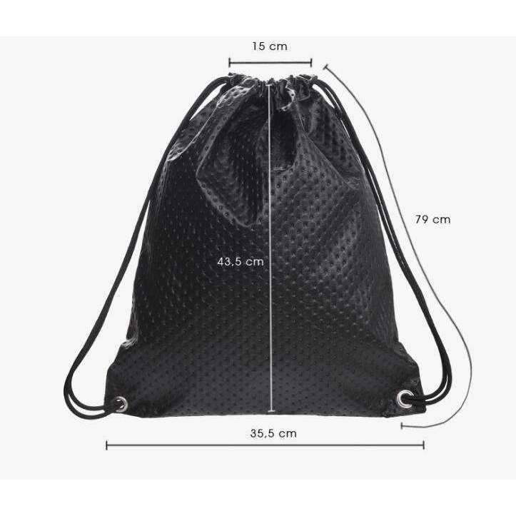 DeeTrade Backpack Black Dot Drawstring Backpack