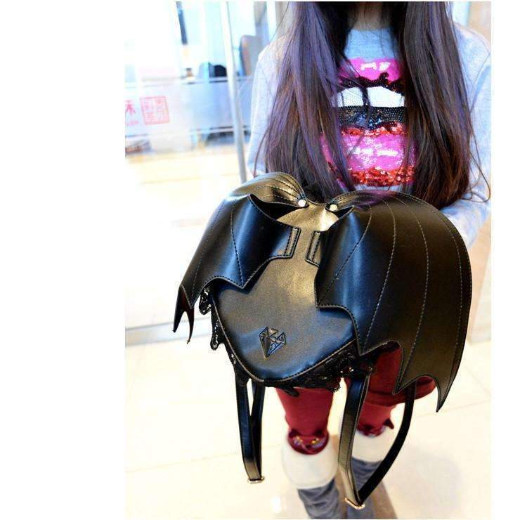 DeeTrade Backpack Black-Hearted Bat Backpack
