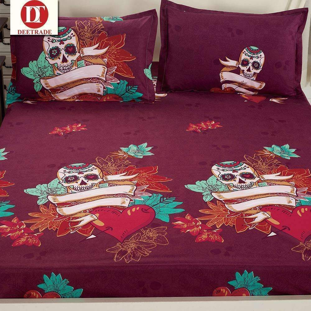 DeeTrade Bedding Set Heart of the Skull Bedding Set 4PCS