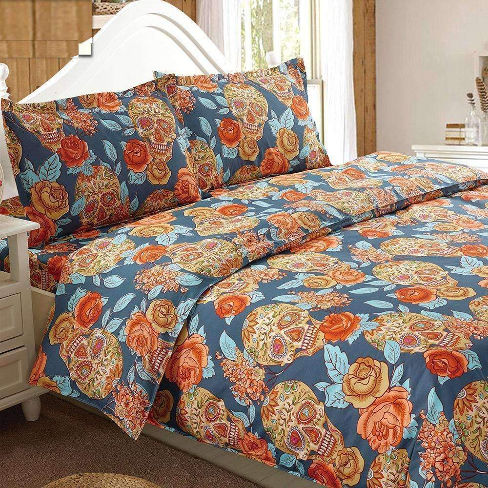DeeTrade Bedding Set Skulls'n'Roses Bedding Set 4PCS