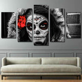 DeeTrade canvas Dia de los Muertos Face Wall Art