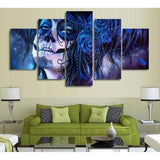 DeeTrade canvas Dia de los Muertos in Blue Wall Art