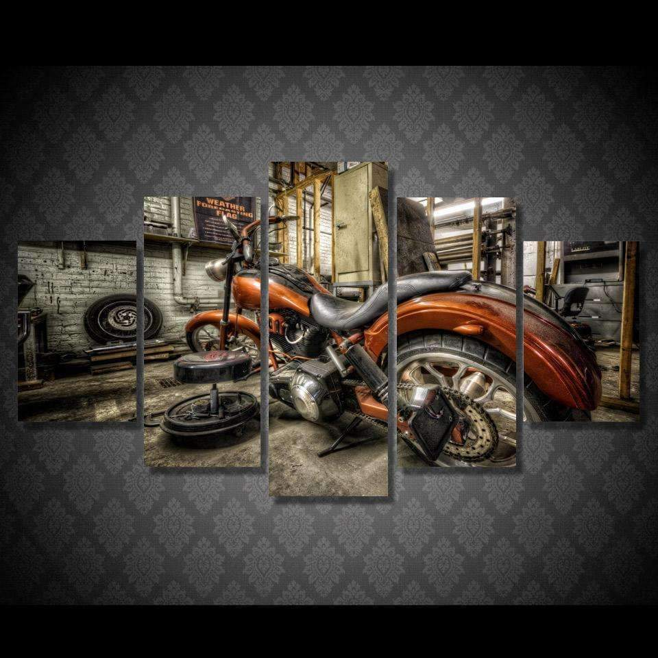 DeeTrade canvas Orange Machine Wall Art