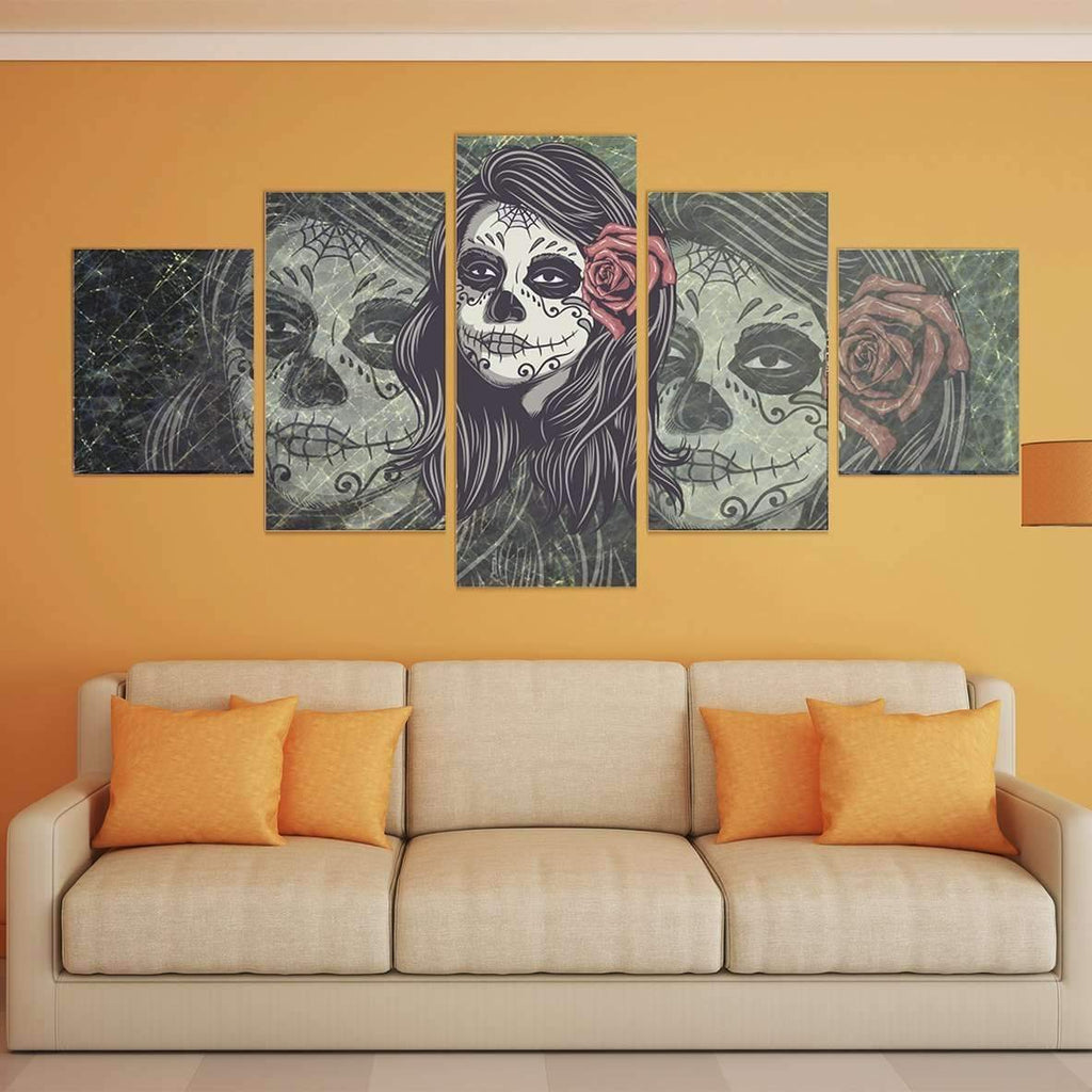 DeeTrade canvas Rose in Hair Wall Art