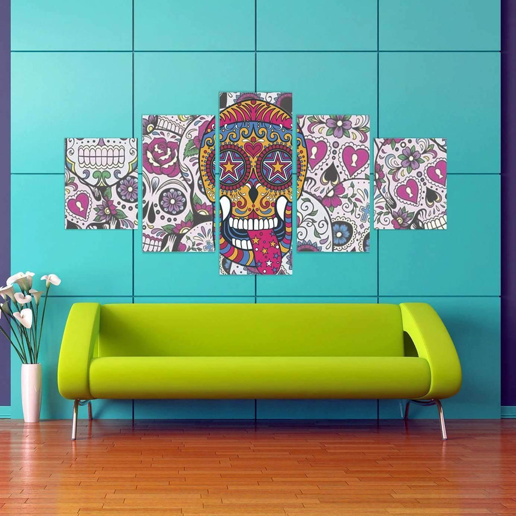 DeeTrade canvas Smilin' Skull Wall Art
