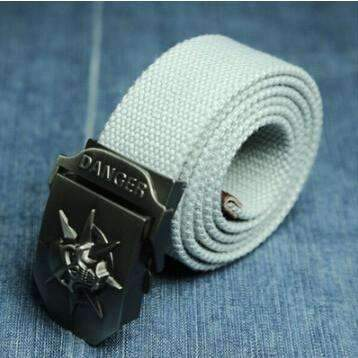DeeTrade Canvas stylish Belt w/Skull Buckle (10 colors)