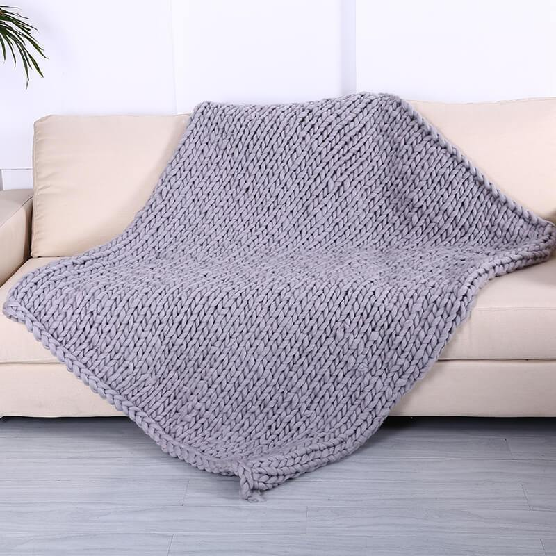 DeeTrade Christmas gift Wool Knitted Chunky Blanket