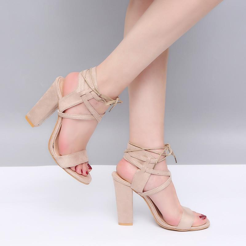 DeeTrade Heels Emily Lace Up High Heels (6 Colors)
