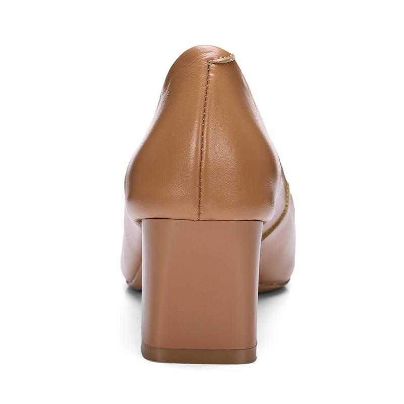 DeeTrade Heels Emma Genuine Leather Pumps (2 Colors)