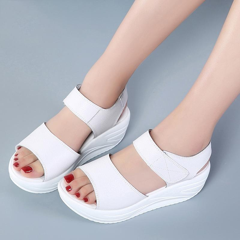 DeeTrade Heels Francesca Open Toe Wedges (2 Colors)