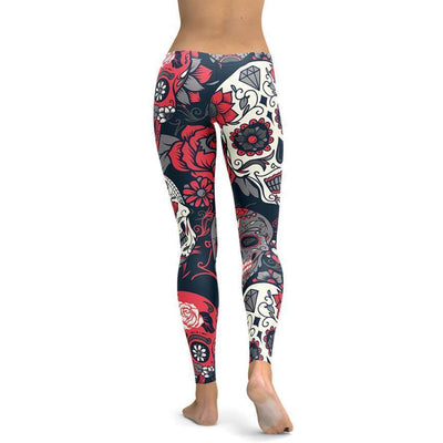 DeeTrade Leggings Sugar Skull Leggings (4 colors)