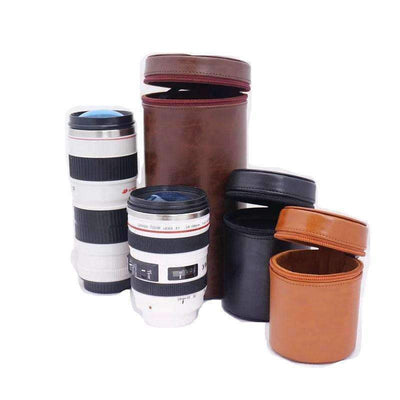 DeeTrade lens bag Leather Lens Hardcase (3 sizes)